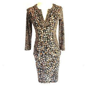 BCBG Max Azria Francine Body Con Side Panel Dress